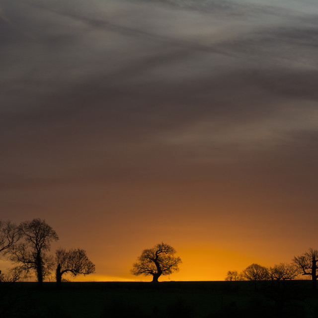 """Silhouette Sunrise"" stock image"