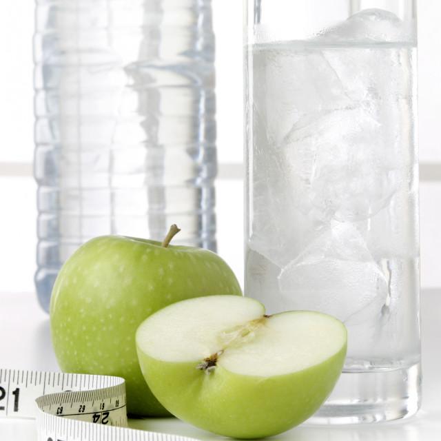 """Water bottle fruit tape 05"" stock image"