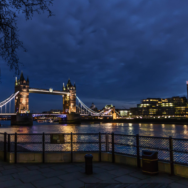 """Tower Bridge at Night, London"" stock image"