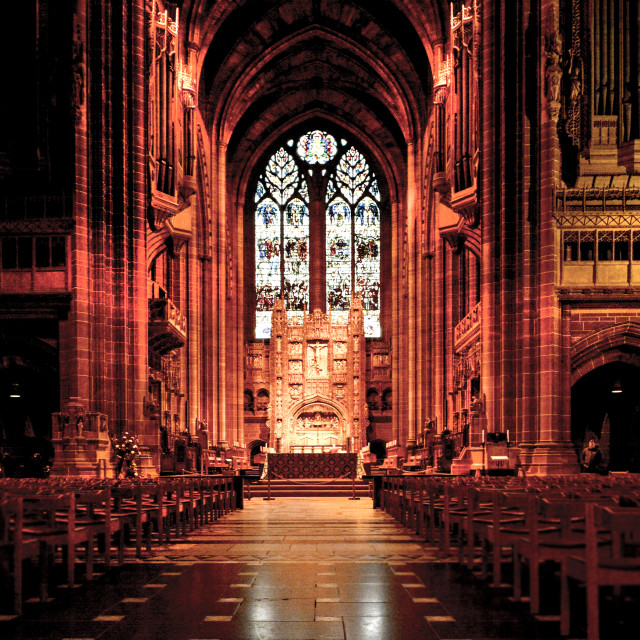 """""""Liverpool Anglican Cathedral"""" stock image"""