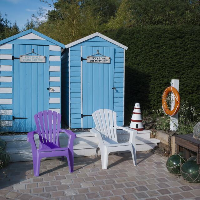 """Seaside huts"" stock image"