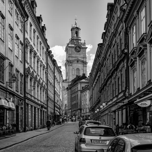 """""""Old Town Stockholm Sweden"""" stock image"""