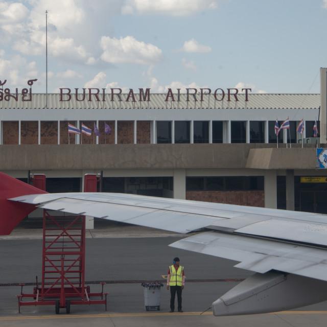 """THAILAND ISAN BURI RAM AIRPORT"" stock image"