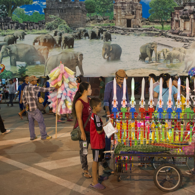 """THAILAND ISAN SURIN CITY MARKET"" stock image"