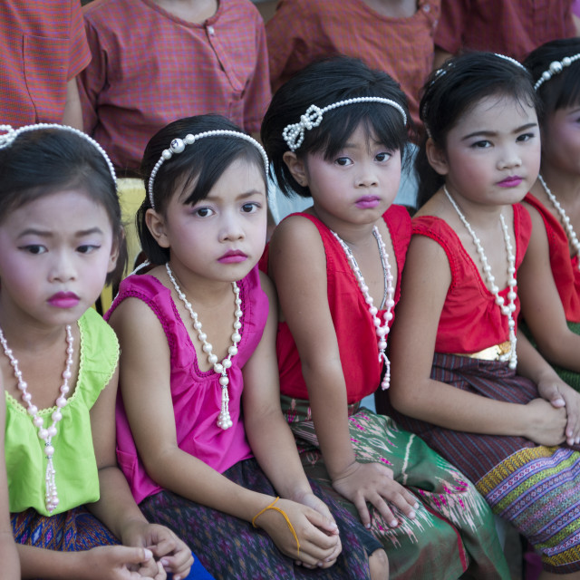 """""""THAILAND ISAN SURIN SIKHORAPHUM TEMPLE TRADITION"""" stock image"""