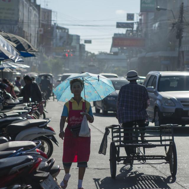"""""""THAILAND ISAN SURIN MARKETSTREET"""" stock image"""