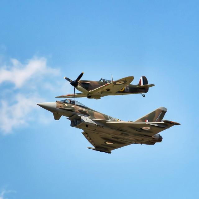 """Typhoon & Spitfire"" stock image"