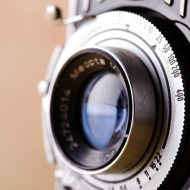 """Detail of old camera"" stock image"