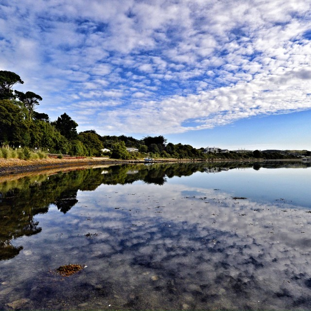 """Hayle Estuary, Cornwall UK"" stock image"