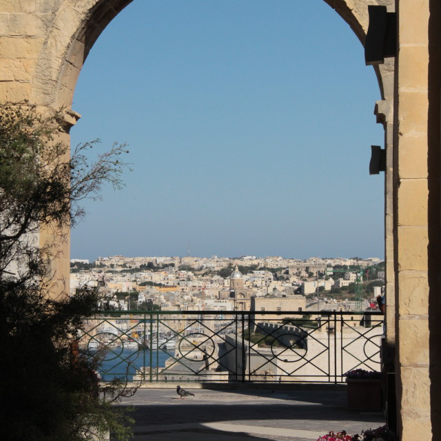 """Malta. Arch to the three Cities"" stock image"