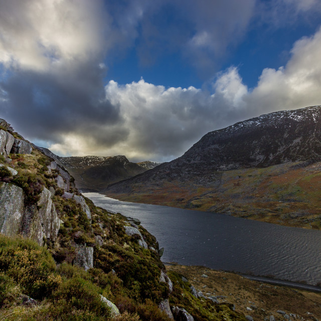 """Tryfan View"" stock image"