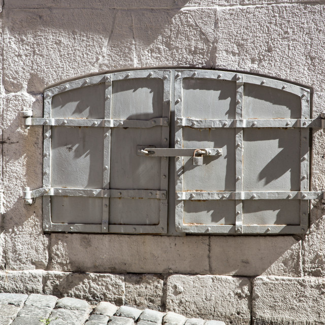 """""""A Shuttered Window"""" stock image"""