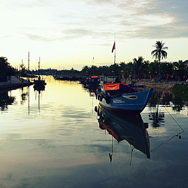 """""""By the river of Hoi An"""" stock image"""