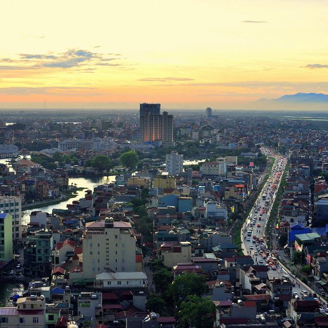 """""""Hanoi - View from above"""" stock image"""
