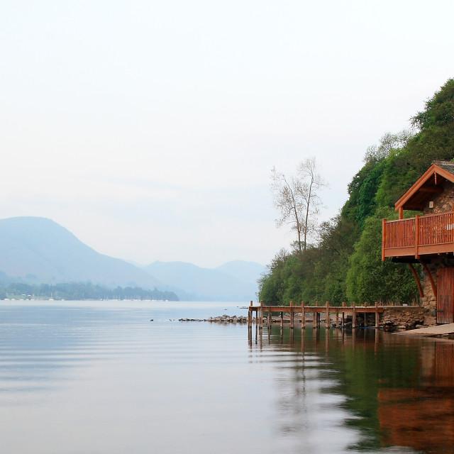 """Ullswater Boathouse - Lake District, UK"" stock image"