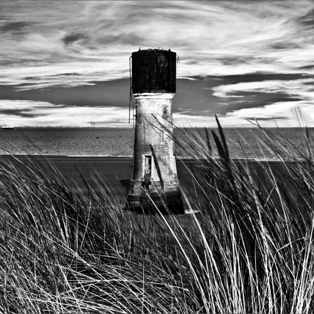 """Spurn Point Lighthouse Yorkshire"" stock image"