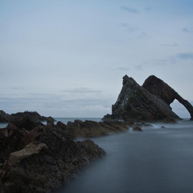"""Bow Fiddle Rock - Portknockie - Scotland"" stock image"