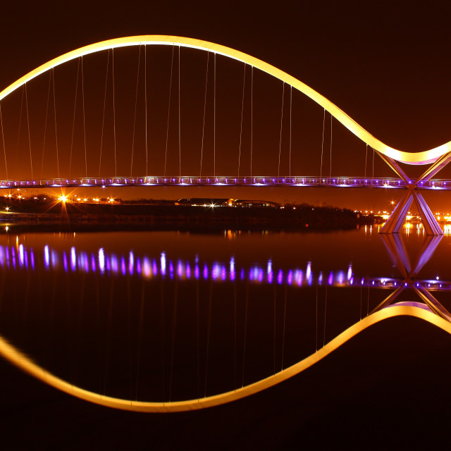 """Infinity Bridge - Stockton on Tees"" stock image"