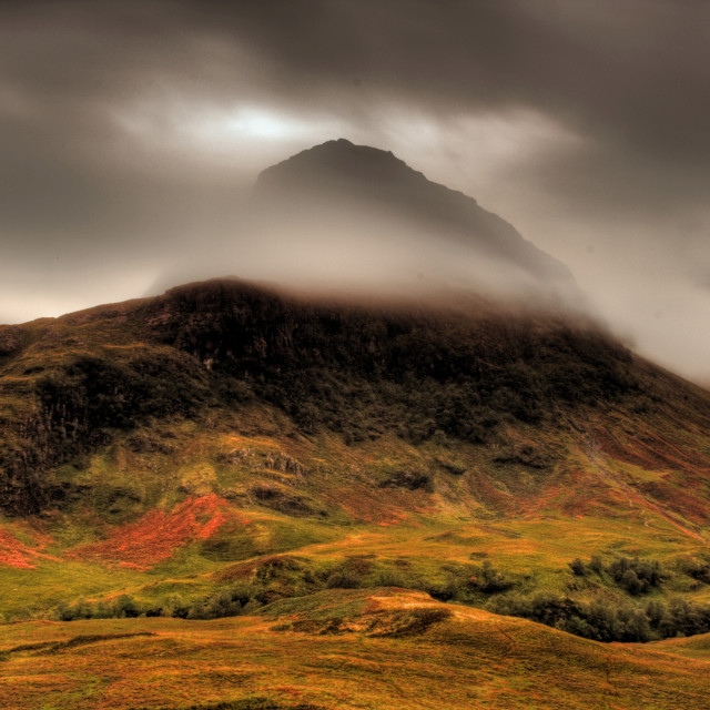 """Glen Coe Mist - Scottish Highlands"" stock image"