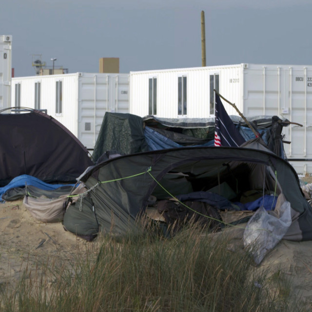 """Calais jungle shipping container 3"" stock image"