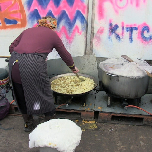 """Calais jungle Ashram kitchen"" stock image"
