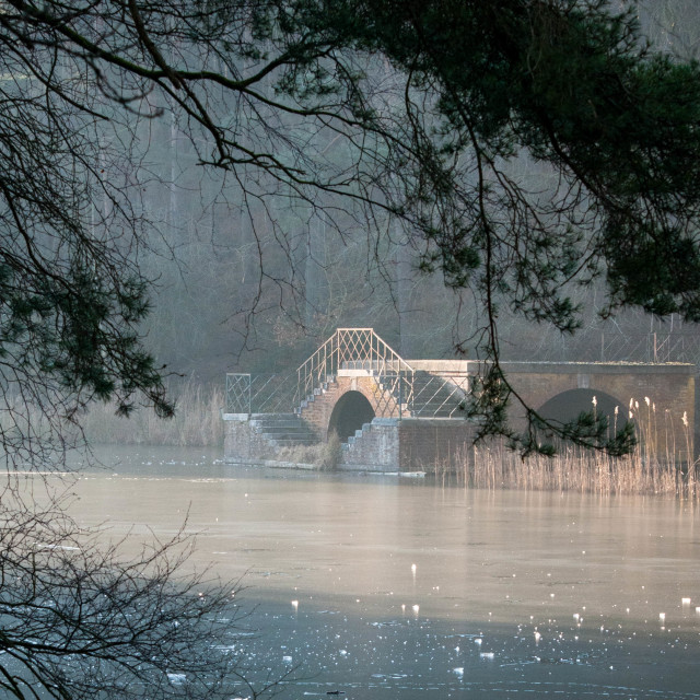 """""""The Boathouse at Stockgrove Park Heath and Reach Bedfordshire"""" stock image"""
