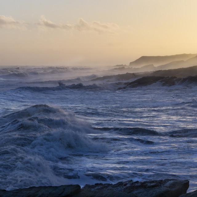 """North sea Eastern Scotland"" stock image"