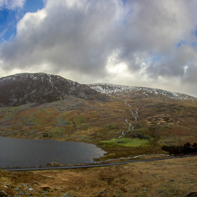 """Ogwen Valley"" stock image"