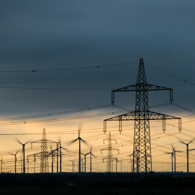 """""""Electricity -- production and distribution"""" stock image"""