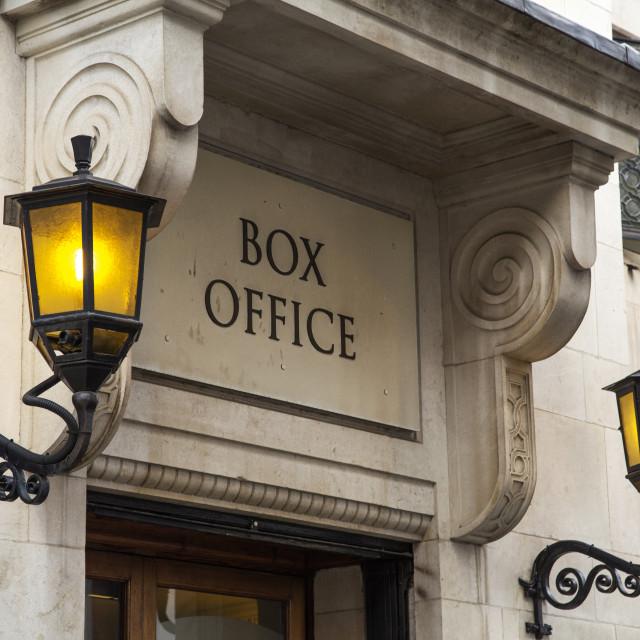 """Box Office"" stock image"