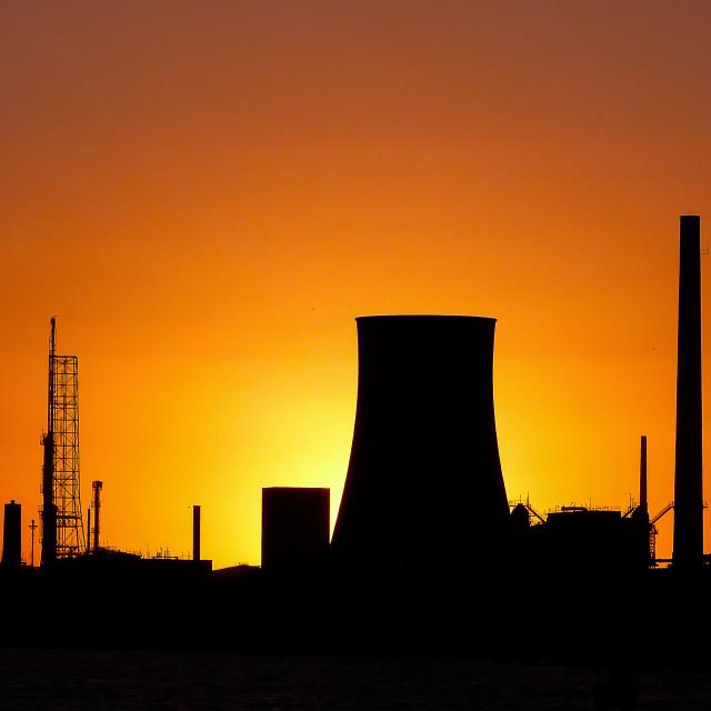 """Industrial sunrise"" stock image"