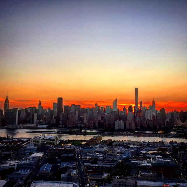 """Digitized Manhattan Skyline"" stock image"