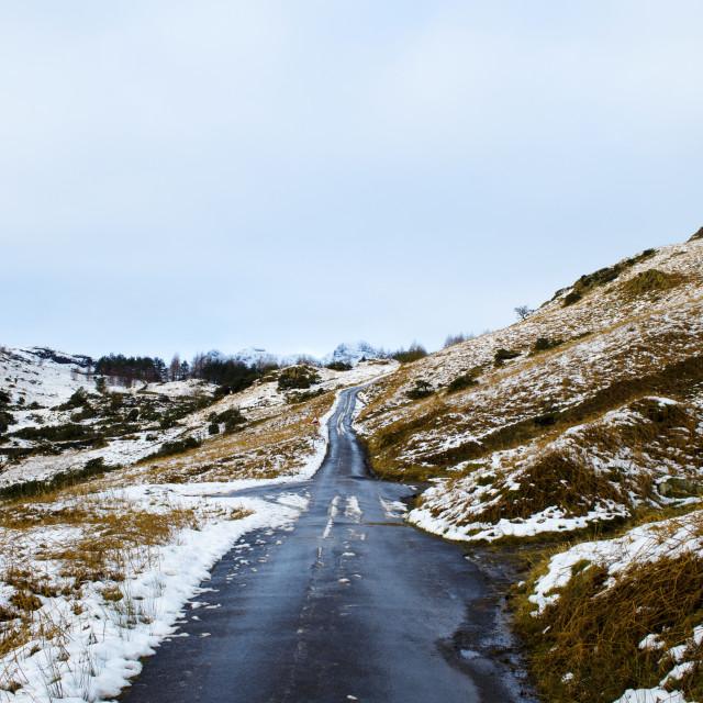 """Winter Road"" stock image"