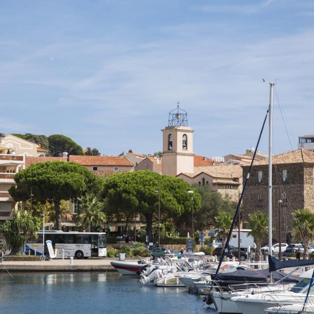 """""""Boats at Sainte Maxime"""" stock image"""