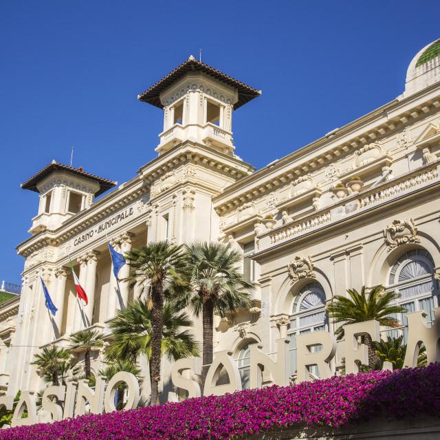 """Casino in San Remo"" stock image"