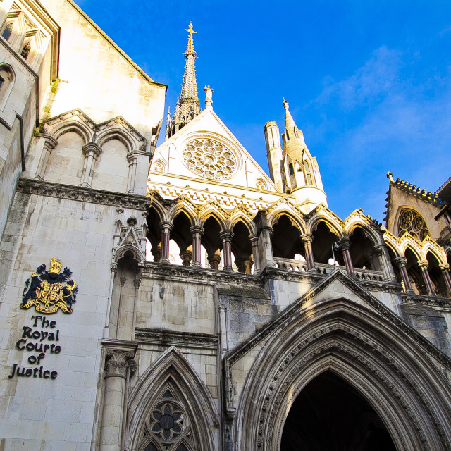 """""""The Royal Courts of Justice in London"""" stock image"""