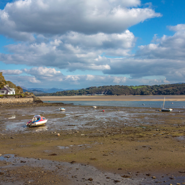 """""""Borth - Y - Gest and Estuary North Wales"""" stock image"""