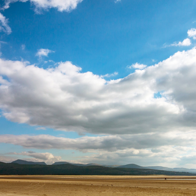 """""""Clouds and Beach"""" stock image"""