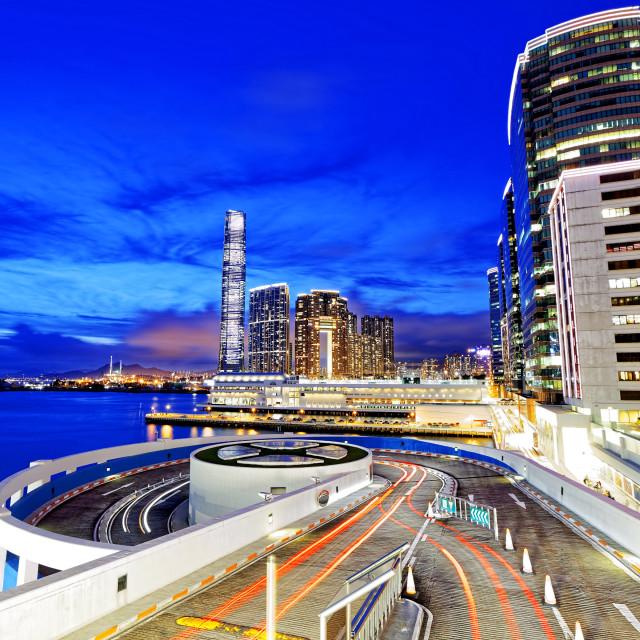 """hong kong office buildings"" stock image"