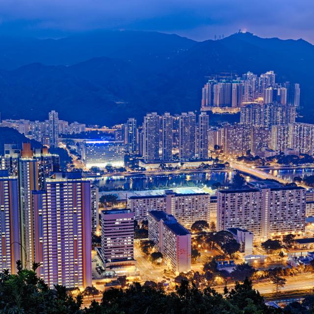 """Hong Kong Sha Tin"" stock image"