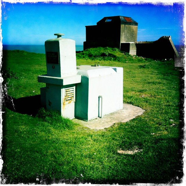"""Royal Observer Corps Bunker on Berry Head, Brixham"" stock image"