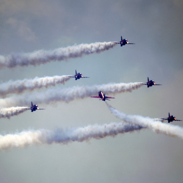 """""""Red Arrows pass"""" stock image"""