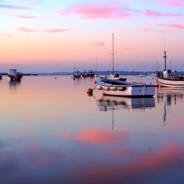 """River Deben afterglow"" stock image"