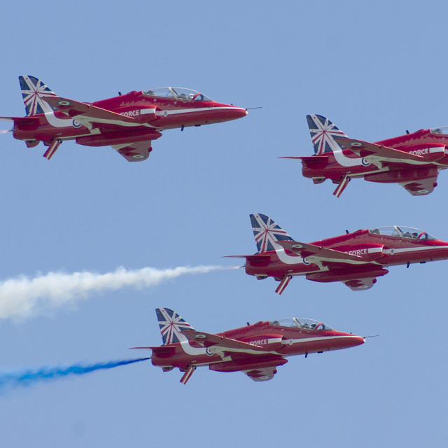 """Red Arrows Anniversary Pass"" stock image"