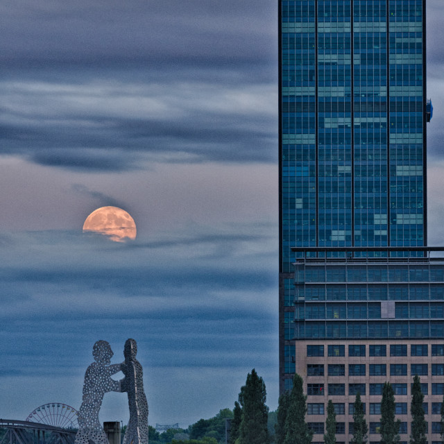 """Full moon rising 12"" stock image"