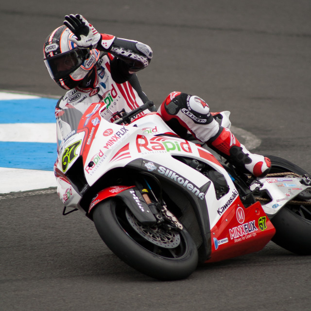 """Shakey Shane Byrne at Knockhill"" stock image"
