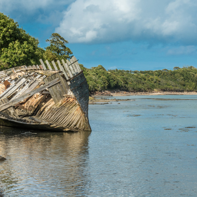 """Shipwreck in Dulas Estuary"" stock image"