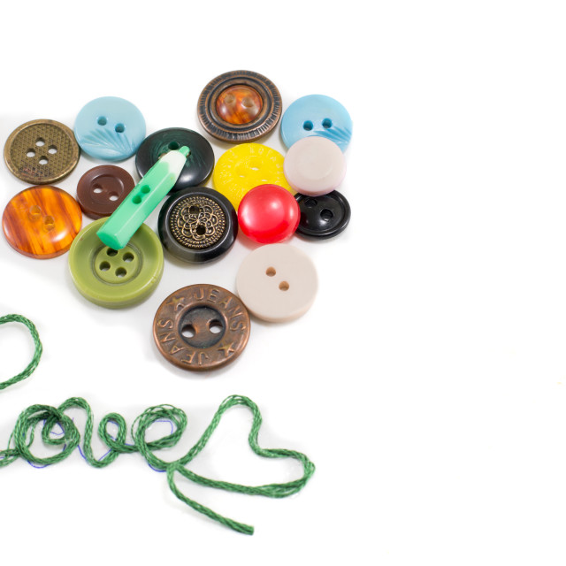 """heart made out of buttons"" stock image"