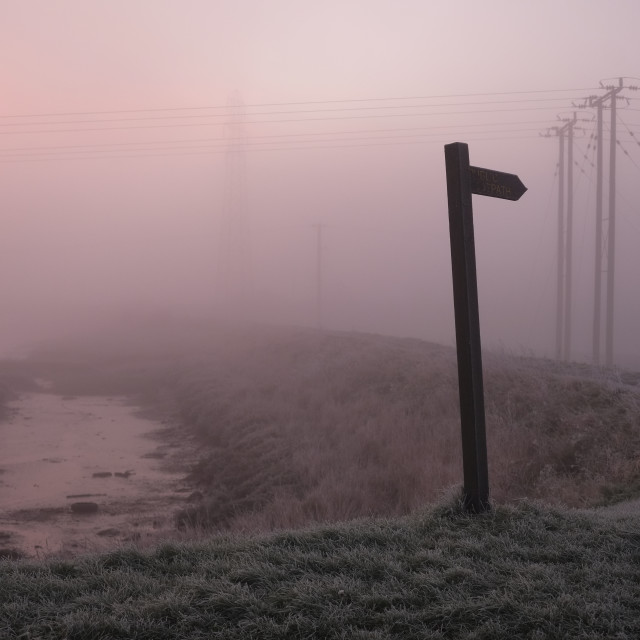 """Foggy Footpath 1"" stock image"