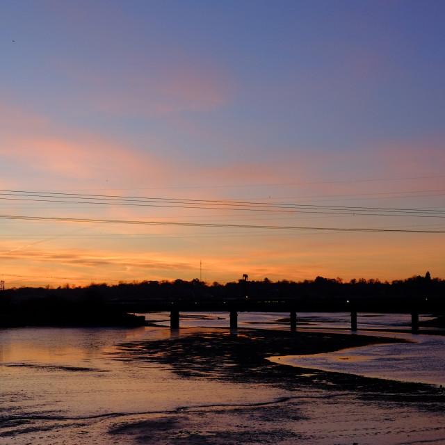 """Estuary Sunrise"" stock image"